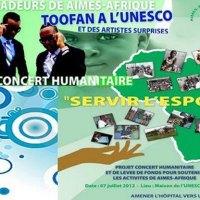 Soutien aux activités de Aimes-Afrique: grand concert humanitaire de levée de fonds