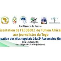 Dossier de Presse ECOSOCC du 25 Août 2015
