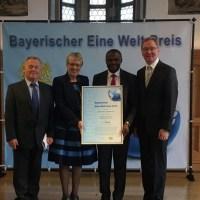 ALLEMAGNE: Le projet des «10 villages de Aimes-Afrique» couronné Meilleur projet de la coopération de l'Etat de Bavière en Allemagne pour un monde meilleur