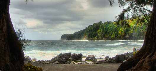 On coast of Big Island, Hawaii - is Laupahoehoe Point - a beautiful location with a tragic story.