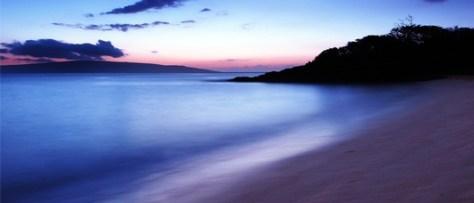 Dreamy Hawaii Beach at sunset