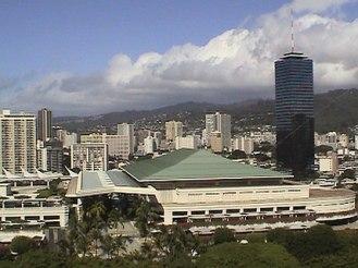 Large convention center near Waikiki, on Oahu, Hawaii