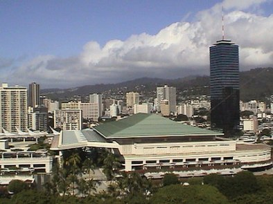 Large convention center near Waikiki, on Oahu, Hawaii