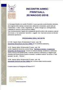 ASSEMBLEA E INCONTRI AIMSC PRINT4ALL - RHO FIERA MILANO 30 MAGGIO 2018 - @ FIERA MILANO RHO - pad.20 - G 17 | Rho | Lombardia | Italia