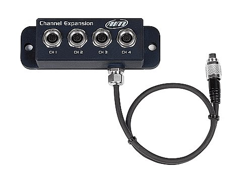 Channel Expansion It permits to add 4 0-5Volt analog channels for pressure, temperature sensors and potentiometers. Two of these channels can be configured to receive digital inputs like wheel speed.