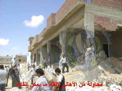 Von der ägyptischen Staatssicherheit im April 20909 zerstörtes Haus
