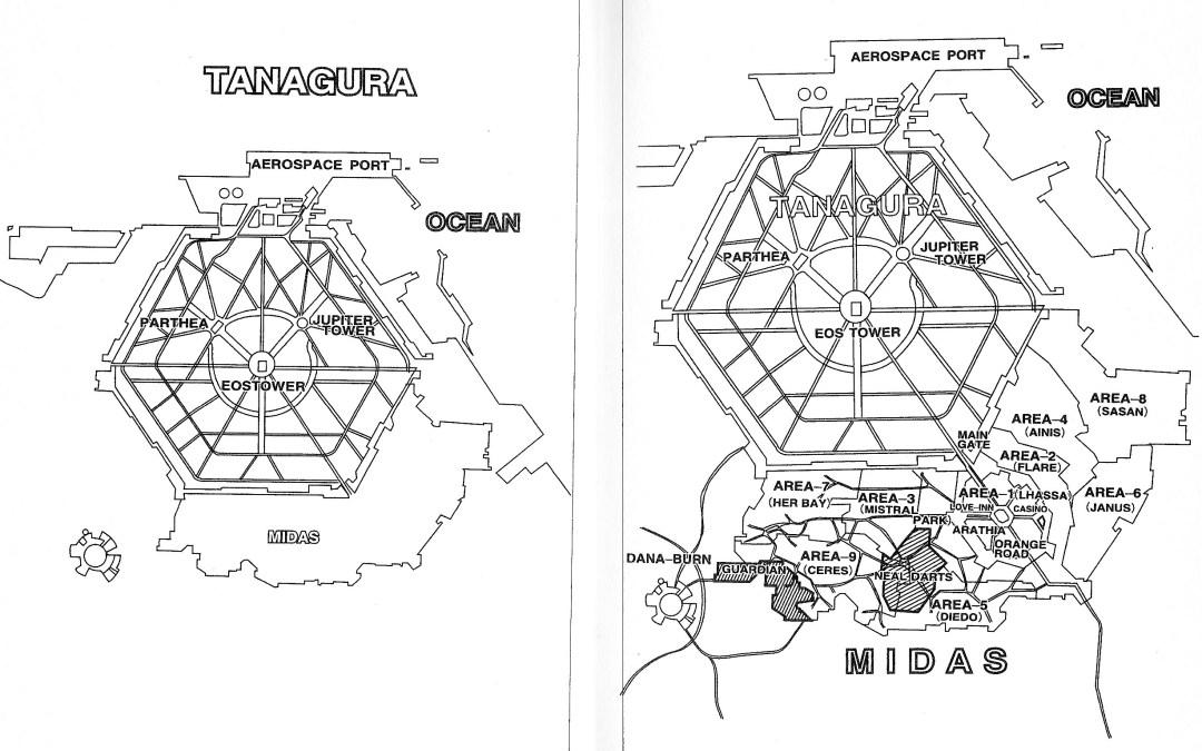 Maps of Tanagura and Midas
