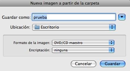 crear iso de cd mac