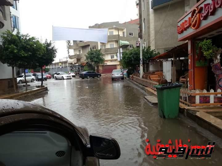 الامطار تغرق شوارع الشرقية