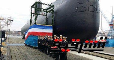 القوات البحرية تدشن أول غواصة مصرية حديثة من طراز