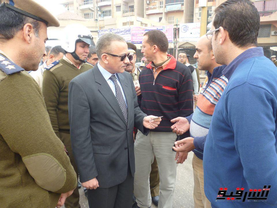 بالصور..مدير أمن الشرقية يقود حملات أمنية ومرورية مكثفة لإعادة الإنضباط للشارع الشرقاوى