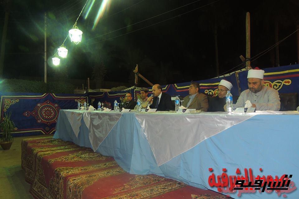 مدير أمن الشرقية يجتمع بأفراد ومجندي الشرطة بإدارة قوات الأمن