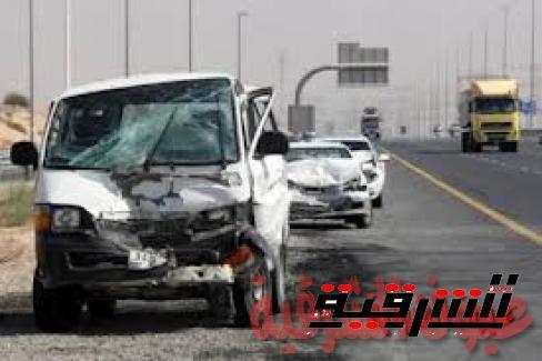 إصابة 10 أشخاص فى انقلاب سيارة بطريق بلبيس- العاشر من رمضان