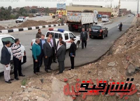 محافظ الشرقية:يشدد على سرعة الإنتهاء من أعمال الرصف لطرق مدينة الزقازيق
