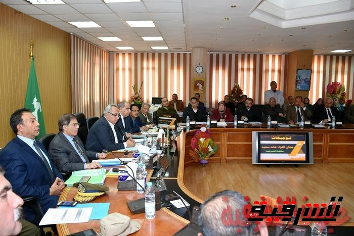 محافظ الشرقية : تشكيل لجنة لمتابعة المشروعات القومية المنفذة