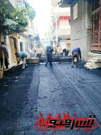 استمرار أعمال الرصف والنظافة والتجميل بمختلف مراكز الشرقية