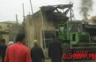 حملة لإزالة الإشغالات بمدينة بمنيا القمح