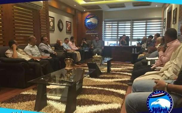 الأمين العام لحزب مستقبل وطن بالشرقية يجتمع بأمناء المراكز