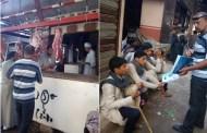 حملة توعية بشوارع مدينة فاقوس