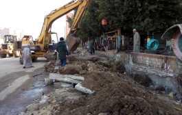 إستمرار أعمال النظافة اليومية ومتابعة توصيل الغاز بشوارع فاقوس