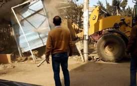 إستمرار حملات رفع الإشغالات وتجميل مداخل المدينة بديرب نجم
