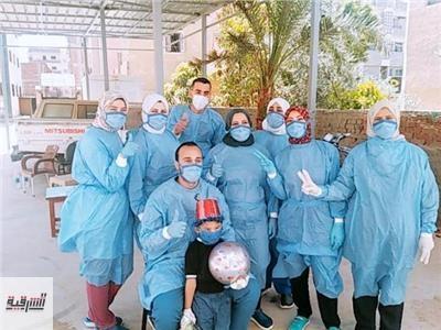 الزغاريد تهز مستشفيات العزل...إرتفاع أعداد المتعافين من كورونا لـ119 بالشرقية