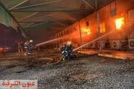 السيطرة علي حريق بمحطة قطار الحرمين بالسعودية.
