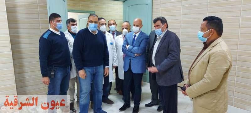 محافظ الشرقية ورئيس مدينة أبوحماد ووكيل وزارة الصحة يتفقدون مستشفى أبو حماد المركزي للإطمئنان على مستوى الخدمات الصحية والعلاجية المؤداه للمرضى