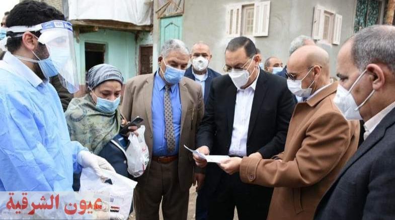 محافظ الشرقية ووكيل وزارة الصحة يُتابعان حالات العزل المنزلي لمصابي فيروس كورونا بمدينة الإبراهيمية