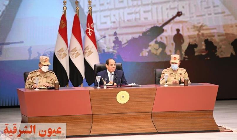 الرئيس عبد الفتاح السيسي يلتقي قادة وضباط وضباط صف وجنود القوات المسلحة