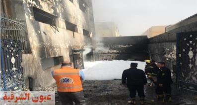 خروج جميع مصابي حريق العبور من مستشفى بلبيس عدا حالة واحدة