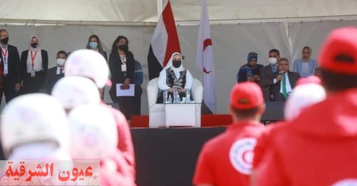 مشاركة أكثر من ٣٠٠متطوع من متطوعي فرق التدخل المختلفة بالهلال الأحمر المصري