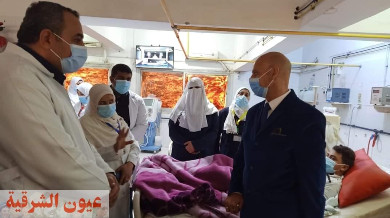 وكيل وزارة الصحة بالشرقية يتفقد سير العمل بمنافذ تقديم الخدمة الطبية بالقرين