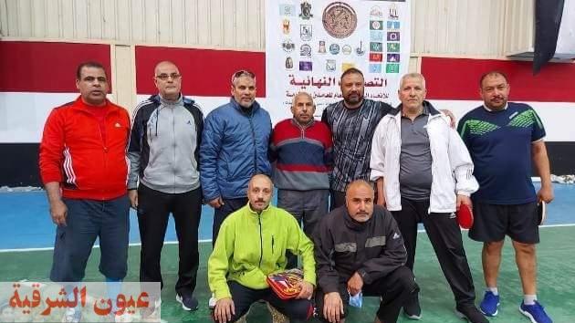 فريق تنس الطاولة بمديرية التربية والتعليم بالشرقية يحصل على كأس بطولة دوري المصالح الحكومية 2021