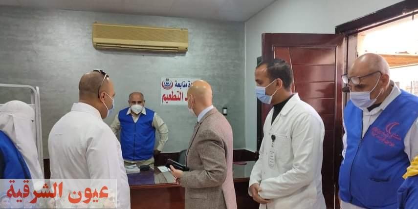 وكيل وزارة الصحة بالشرقية يتابع تطعيم المواطنين بلقاح كورونا وإستمرار العمل بالمراكز الجديدة