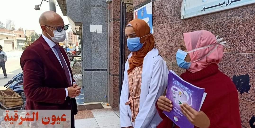 وكيل وزارة الصحة بالشرقية يجازي المشرف على إحدي فرق التطعيم ضد شلل الأطفال بأبوكبير