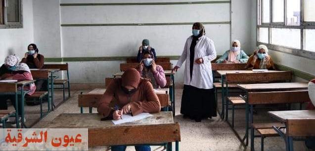 إجراء إمتحانات الفصل الدراسي الثاني وسط إجراءات إحترازية ووقائية مشددة بالشرقية