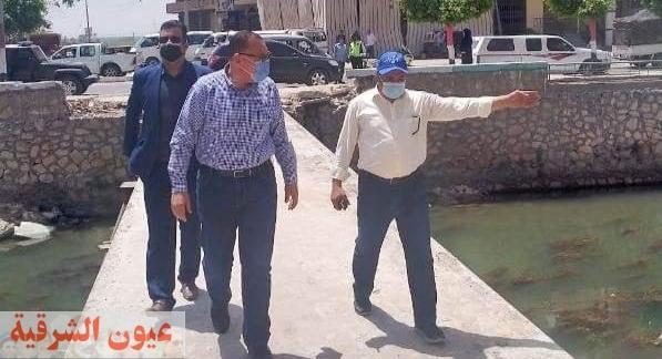 محافظ الشرقية ورئيس مدينة أبوحماد يُتابعان أعمال رصف ورفع كفاءة كوبري العباسة وإنشاء كوبري مشاة أمام مجمع المواقف