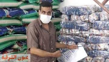 ضبط ٥٠ طن سكر داخل مخزن لتعبئة المواد الغذائية يعمل بدون ترخيص ببلبيس