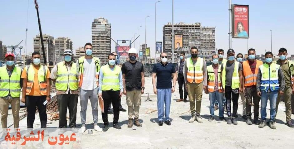 الرئيس السيسي يتفقد أعمال التطوير والصيانة الشاملة للطريق الدائري حول القاهرة الكبرى