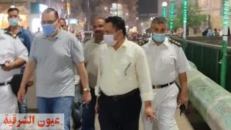 محافظ الشرقية يتابع أعمال الرصف والتطوير الجارية بشوارع مدينة أبوحماد
