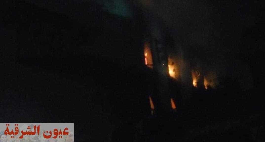 حريق يلتهم محتويات المسجد الكبير بقرية القراموص بأبوكبير