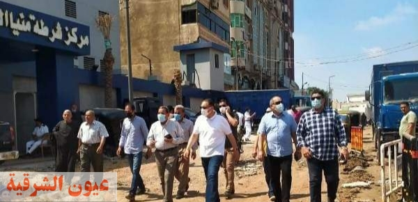 محافظ الشرقية يُتابع أعمال الرصف والتطوير الجارية بشوارع مدينة منيا القمح