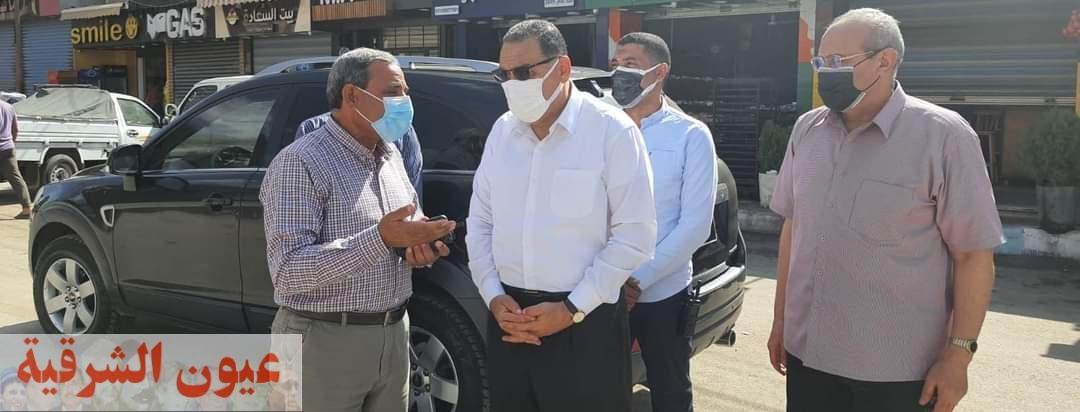 محافظ الشرقية بتطوير ميدان الشهيد أحمد المنسي بمنيا القمح