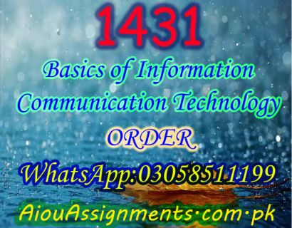 1431 Basics of Information  Communication Technology BA Spring 2019