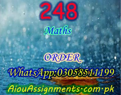 248 Math Matric Spring 2019 | AiouAssignments.com.pk
