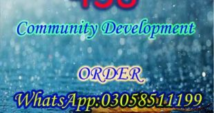 458 Community Development BA Spring 2019
