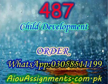 487 Child Development BA Spring 2019 | AiouAssignments.com.pk