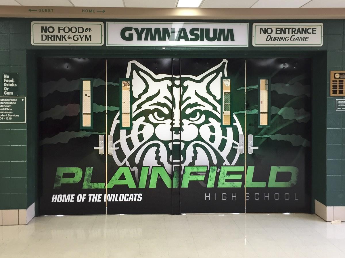 Plainfield Central Quad Doors wall wrap