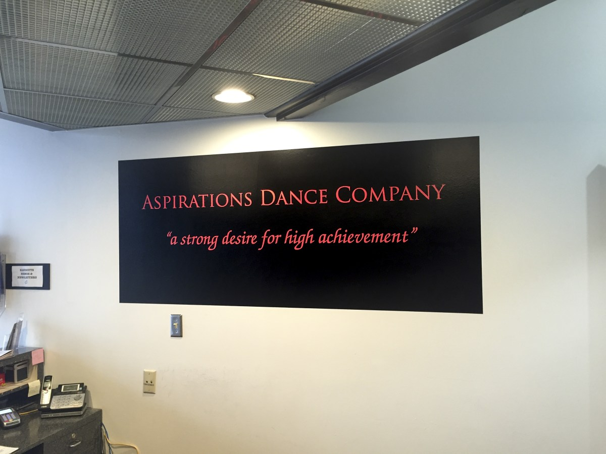 Aspirations Dance Company wall graphic